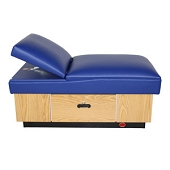 Pediatric Adjustable Headrest Couch - Hardwood Base 1 Drawer