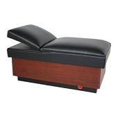 Pediatric Adjustable Headrest Couch - Hardwood Base (No Drawers)