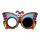 Animal Frame Occluding Glasses - Butterfly