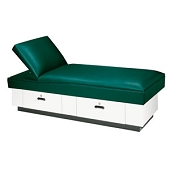 Adjustable Headrest Couch - Hardwood Base 2 Drawers