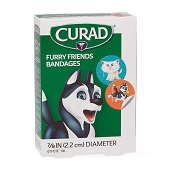CURAD Furry Friends Plastic Bandages - Spot 7/8