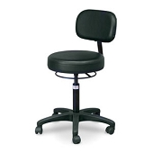 Hausmann Economy Air-Lift Stool with Backrest