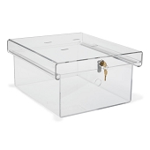 Clear Acrylic Refrigerator Lock Boxes (Large)