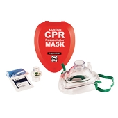 CPR Resuscitator Mask - Adult & Child (Hard Case)