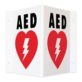 AED Triangle Sign