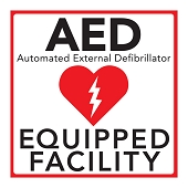 AED On Premises Window Cling