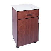 Transportable Single-Drawer Wood Utility Cabinet