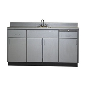 Base Cabinet with 2 Drawers, 4 Doors & Stainless Sink