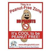 Peanut-Free Zone Sign