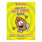 This Is A Nut Free Zone Poster