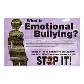 What Is Emotional Bullying? Poster