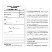 Lice Infestation Forms (100/Pkg)
