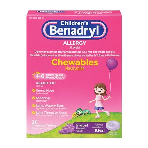 Children's Benadryl Allergy Chewables (20/Box)