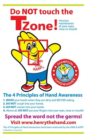 Henry the Hand Do Not Touch the T Zone Poster