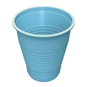 5 oz Flat Bottom Plastic Cup - Blue (100-ct)