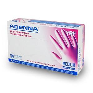 Adenna Vinyl Powder Free Gloves - Large (100/Box)