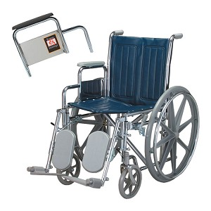 Everest & Jennings Traveler SE Removable Arm Wheelchair with Elevating Leg Rest (20