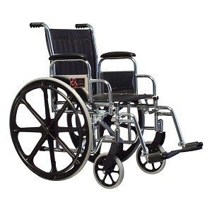 School Nurse Supply Wheelchair with Elevating Leg Rest (22