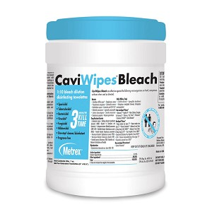 CaviWipes Bleach - Disinfecting Wipes (90/Tub)