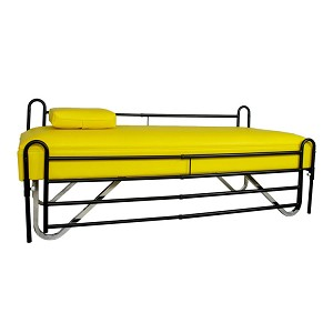 Economy Flat Couch Chrome Legs With Railings