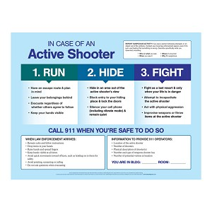 In Case of an Active Shooter Poster (17