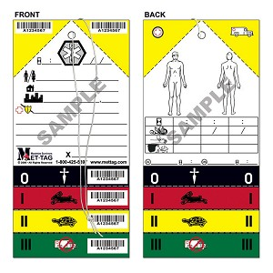 Medical Emergency Triage Tags