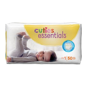 Cuties Diapers - Size 1, 8-14 lbs (50-ct)