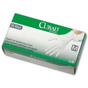 CURAD 3G Vinyl Powder-Free Gloves - Small (100-ct) **CASE of 10**