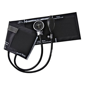 Optimum Aneroid Latex-Free Sphygmomanometer - Large Adult