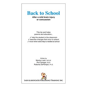 Back to School After a Mild Brain Injury or Concussion (Each)