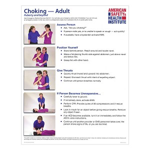Choking Poster - Adult