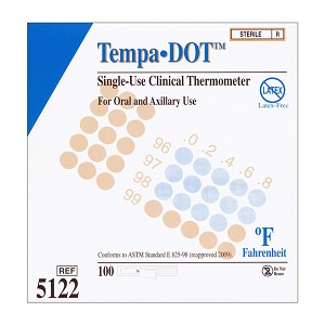 Tempa-Dot Thermometers - Sterile (Case of 20 Boxes)